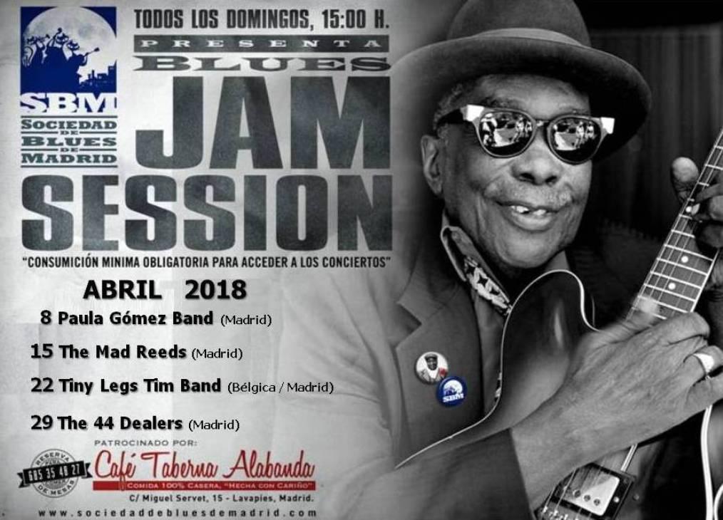 Cartel Jams Abril 2018